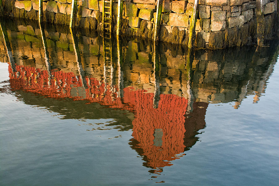 New England Photograph - Motif no. 1 Reflection by Nancy De Flon