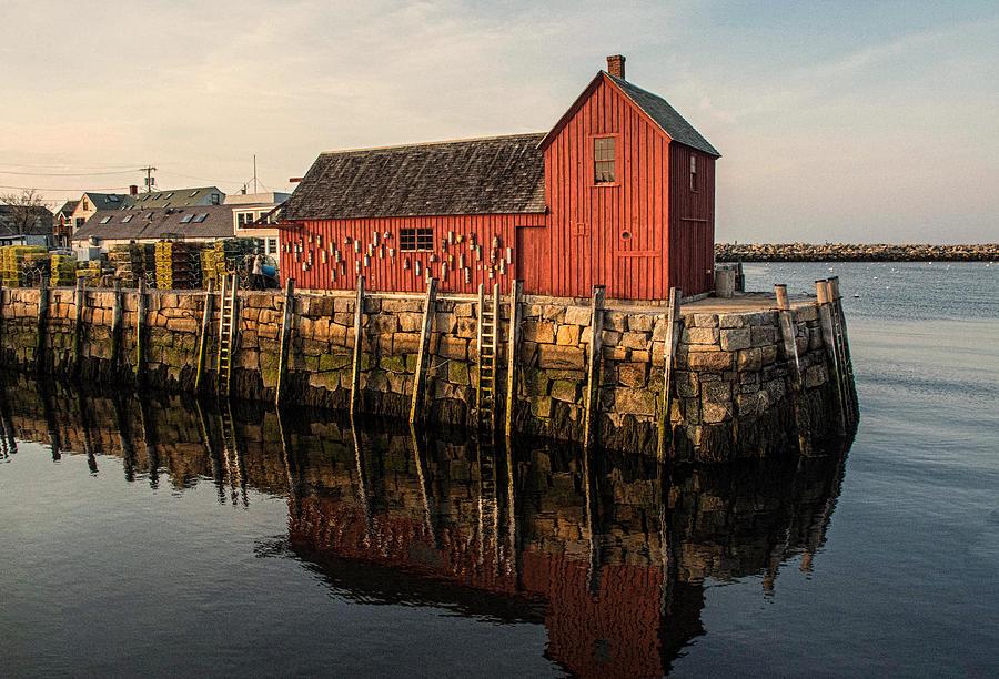 New England Photograph - Motif no 1 Warm by Nancy De Flon