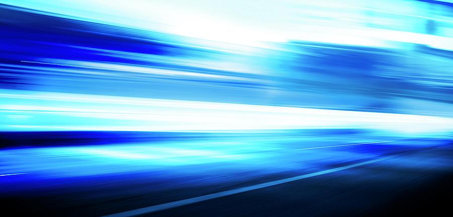 Motion Blue Road Digital Art by Aaron Foster