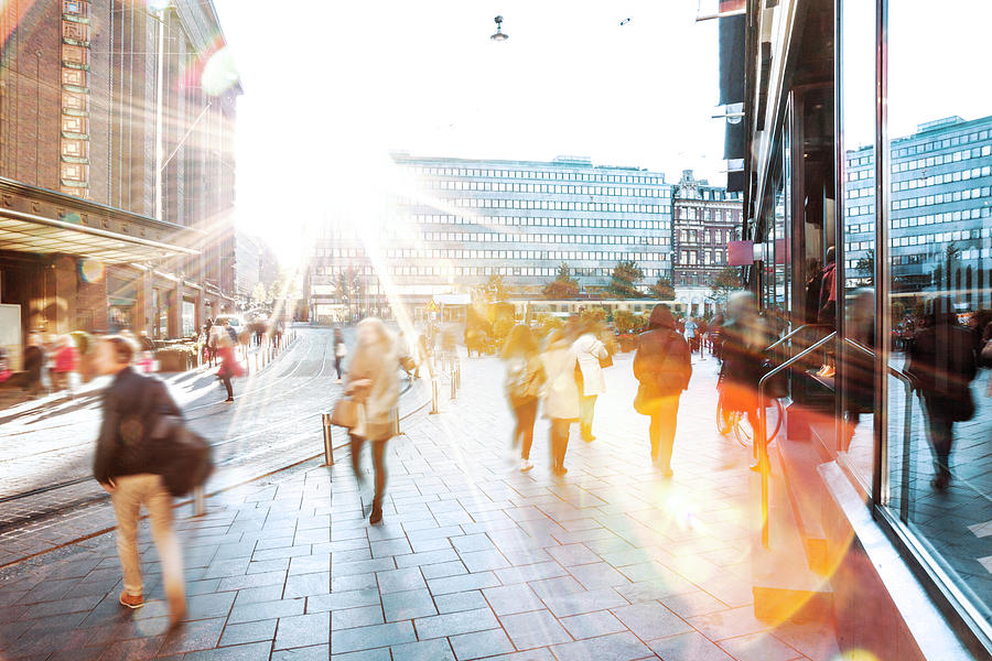 Motion Blur of People Walking in the City Photograph by Marco_Piunti