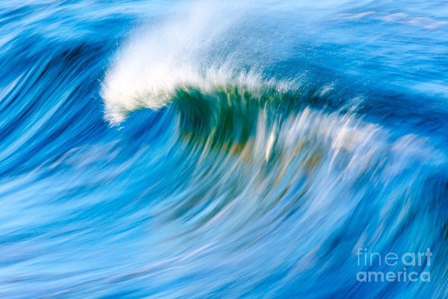 Wave Photograph - Motion Captured by Paul Topp