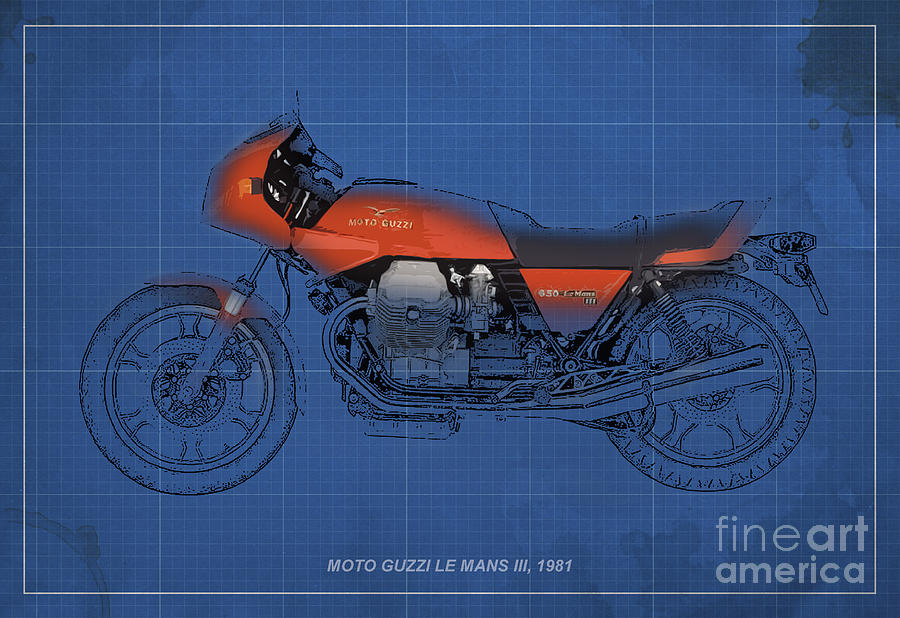 Le Mans Mixed Media - Moto Guzzi Le Mans IIi 1981 Vintage Style by Pablo Franchi