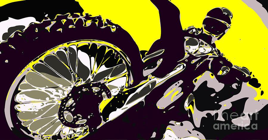 Motocross Digital Art By Chris Butler