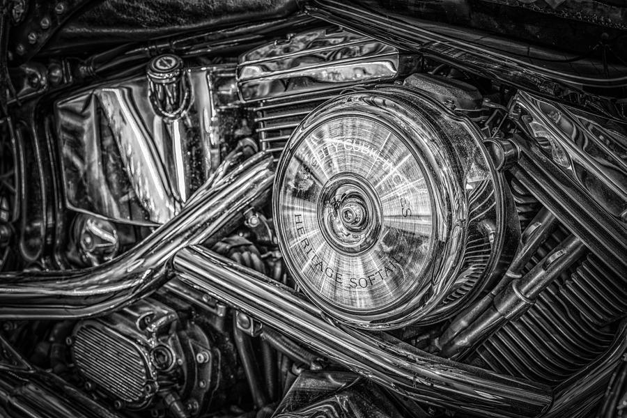 Motor Bike Detail Photograph