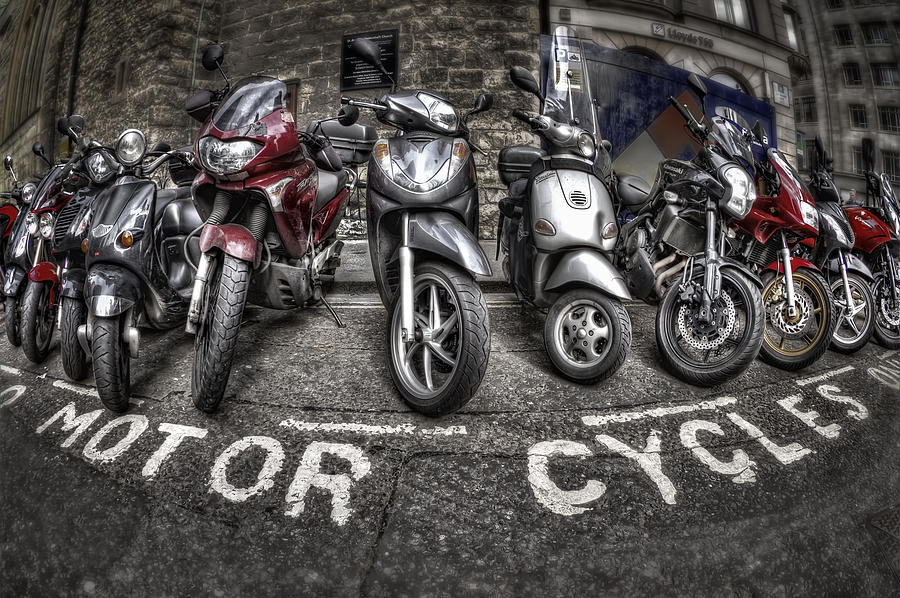 Motorcycle Photograph - Motor Cycles by Evelina Kremsdorf