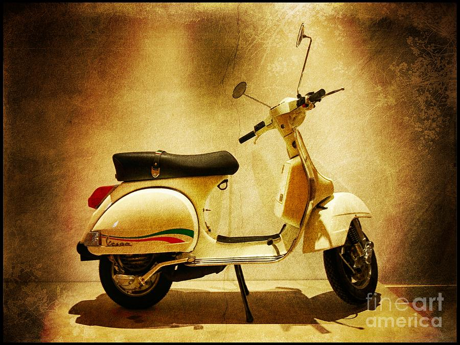 Italy Photograph - Motor Scooter Vespa by Stefano Senise
