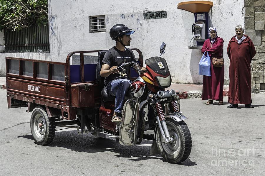 Marocco Photograph - Motorbike Marocco by Stefano Piccini