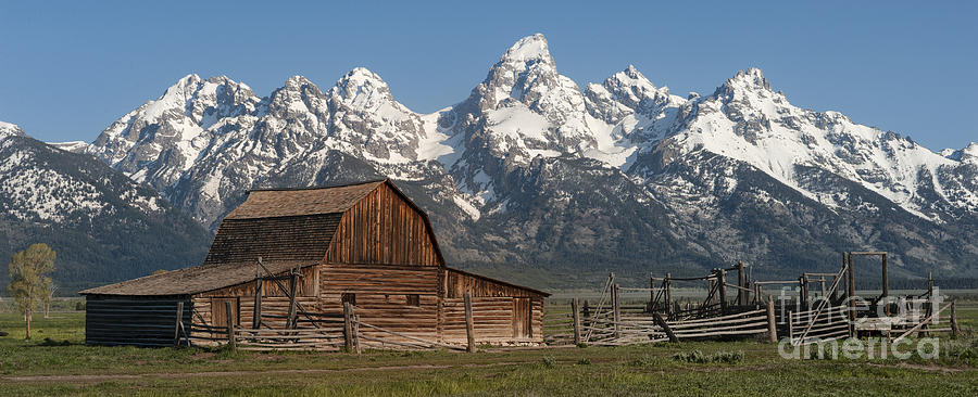 Grand Teton Photograph - Moulton Barn - Grand Tetons I by Sandra Bronstein