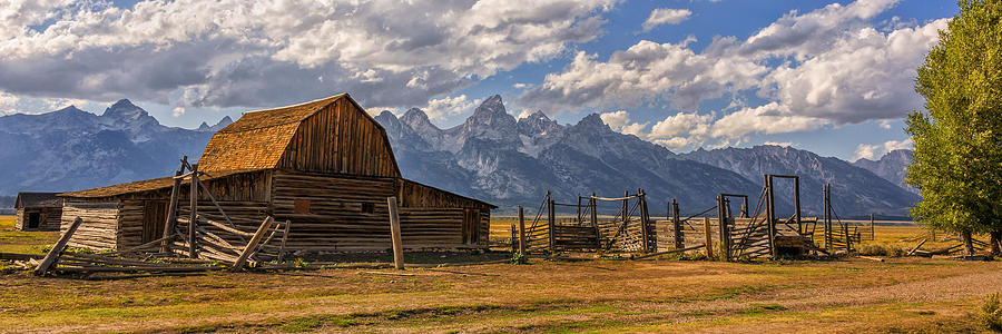 Moulton Barn Panorama Grand Teton National Park Wyoming
