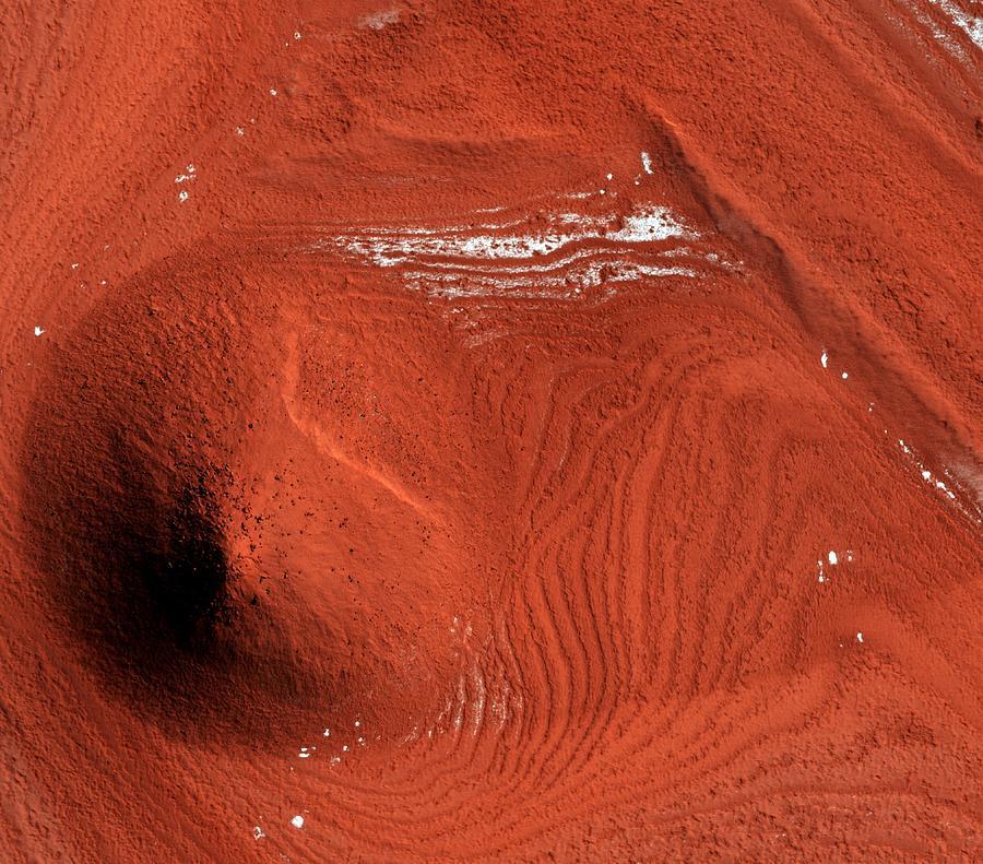Mound Photograph - Mound On Mars by Nasa/jpl/university Of Arizona/science Photo Library