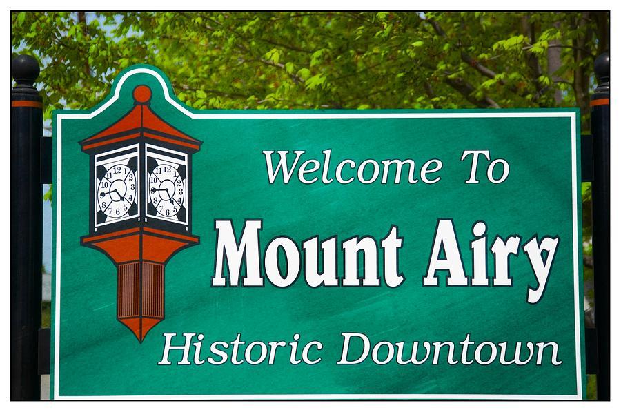 North Carolina Photograph - Mount Airy Sign Nc by Bob Pardue
