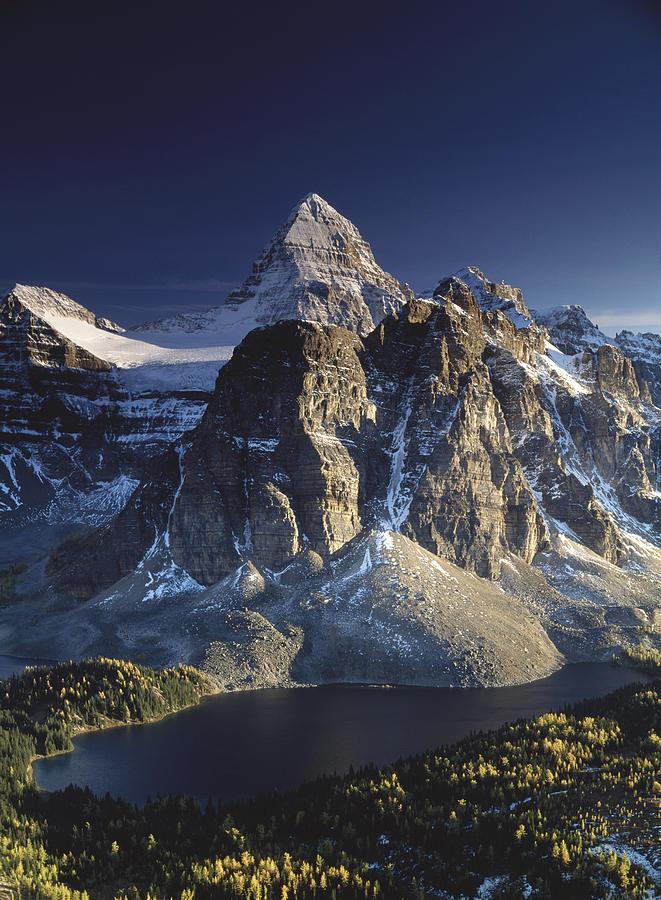 Assiniboine Photograph - Mount Assiniboine and Sunburst lake by Richard Berry