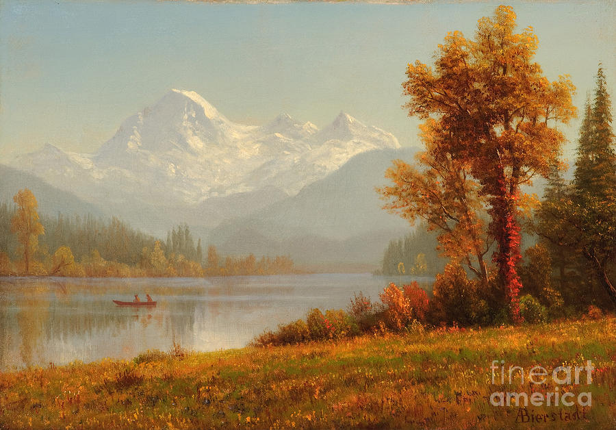 Silhouette Painting - Mount Baker Washington by Celestial Images