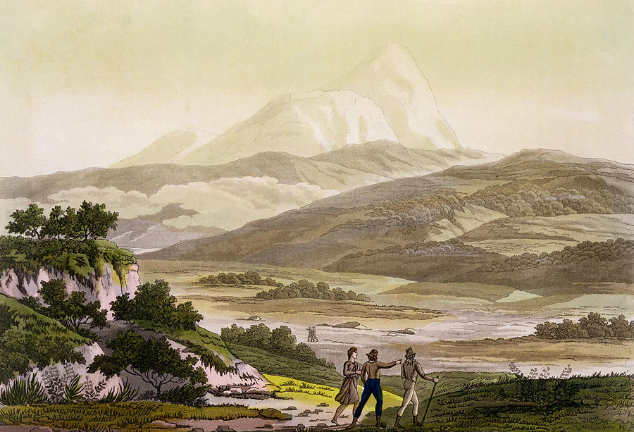 Giulio Drawing - Mount Cayambe, Ecuador, From Le Costume by Friedrich Alexander, Baron von Humboldt