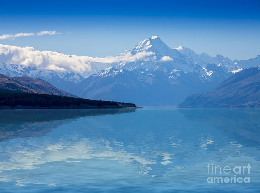 Mount Cook Photograph - Mount Cook Reflecting In Lake Pukaki by Sheila Smart Fine Art Photography