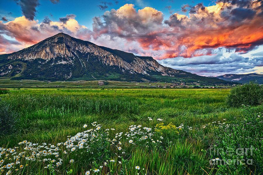 Mount Crested Butte Summer Sunset Photograph By Matt Suess