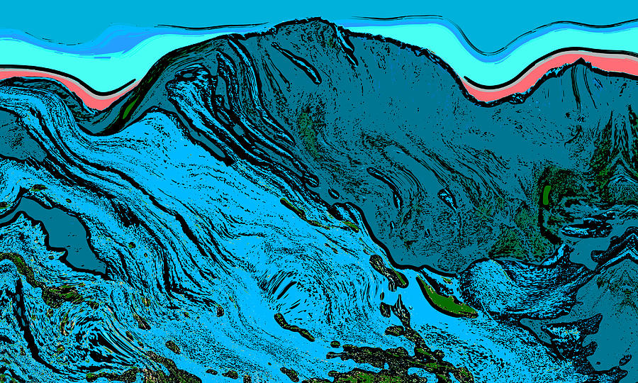 Democrat Digital Art - Mount Democrat - Colorado by David G Paul