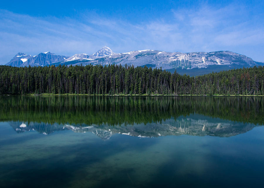 Mount Edith Cavell From Leach Lake. Photograph