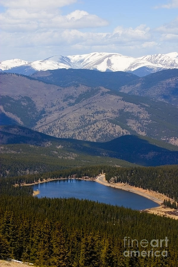 Mount Evans And Echo Lake Photograph