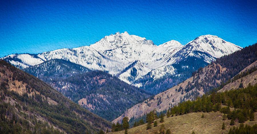 North Cascades Photograph - Mount Gardner Close Up by Omaste Witkowski