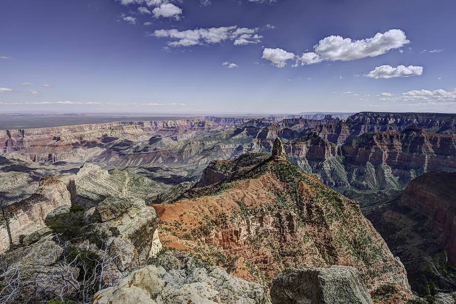 North Rim Photograph - Mount Hayden by Mike Herdering