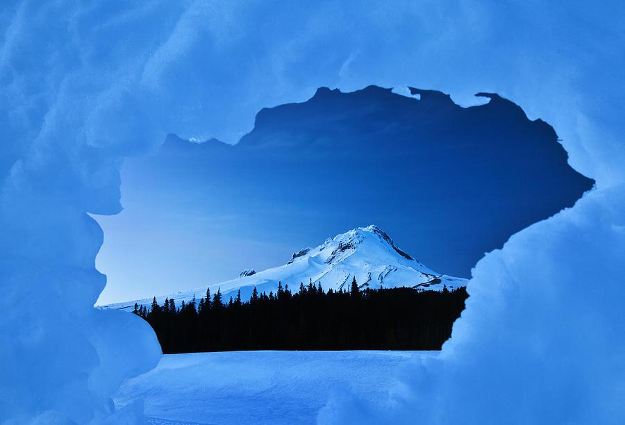 Mount Hood Blues Photograph