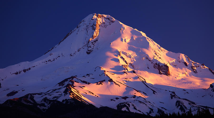 Mount Hood Last Light Photograph
