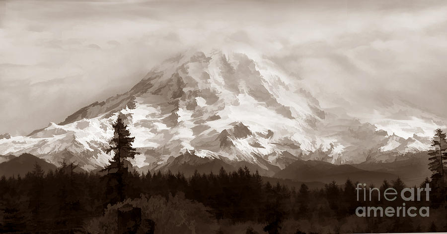 Mountain Photograph - Mount Rainer by Kathleen Gauthier