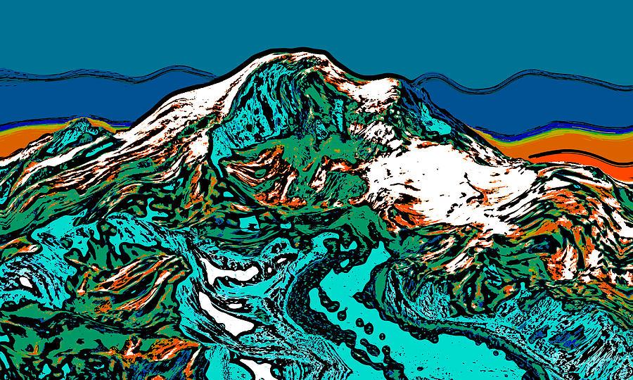 Mount Rainier - Washington Digital Art