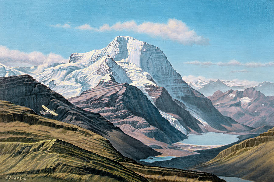 Landscape Painting - Mount Robson From The Air    by Paul Krapf