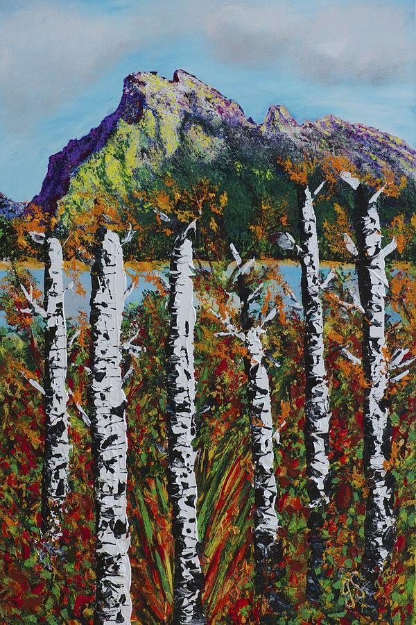 Mountain Painting - Mount Rundle Banff Alberta by Joyce Sherwin