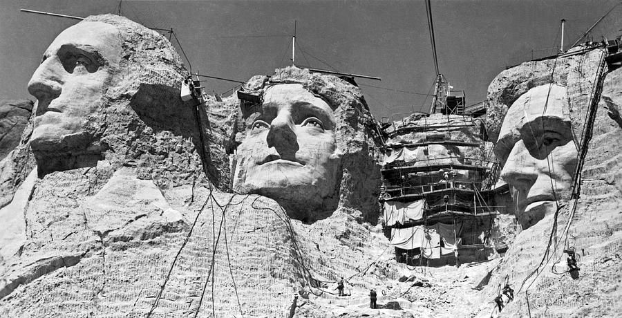 1938 Photograph - Mount Rushmore In South Dakota by Underwood Archives