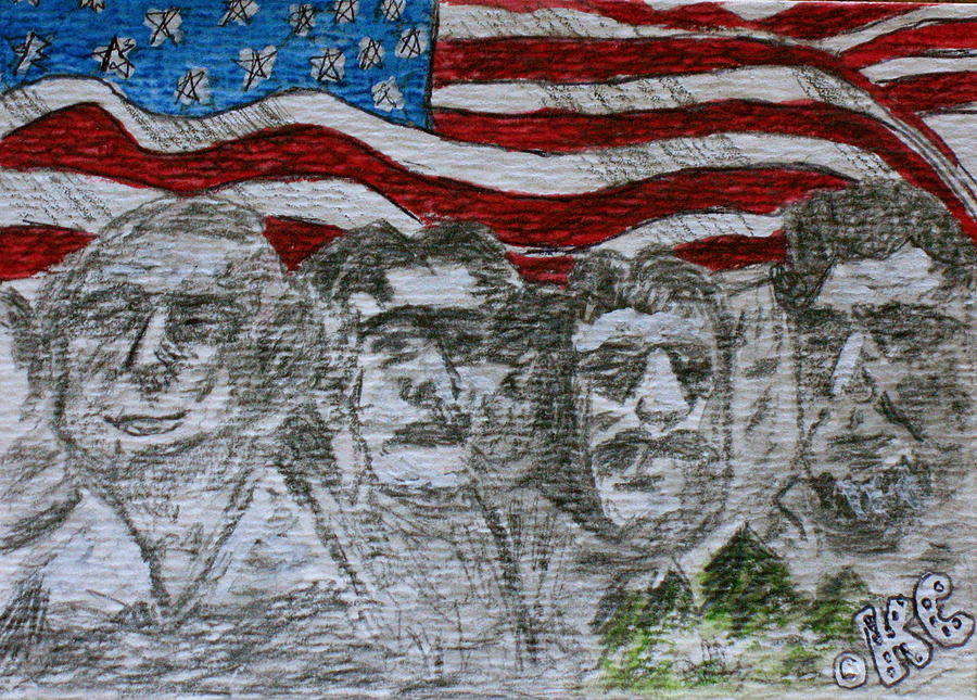 Mount Rushmore Painting - Mount Rushmore by Kathy Marrs Chandler