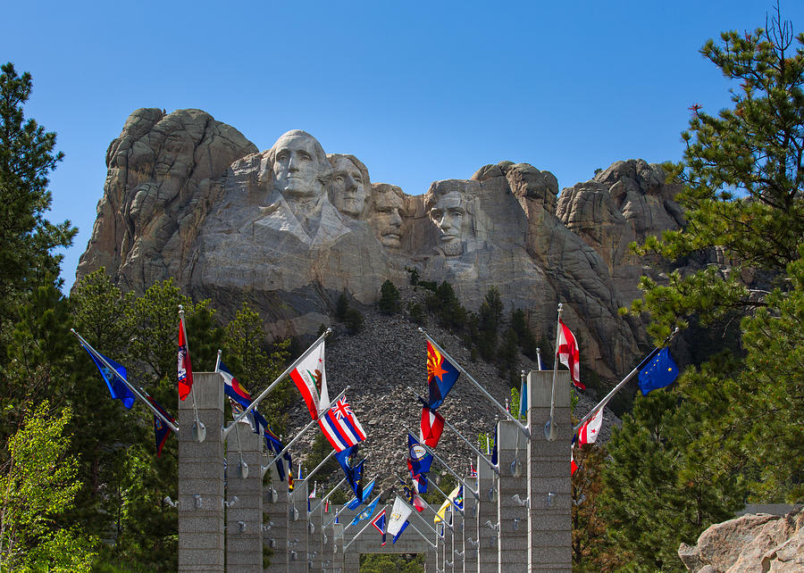 Mount Rushmore National Memorial by John M Bailey