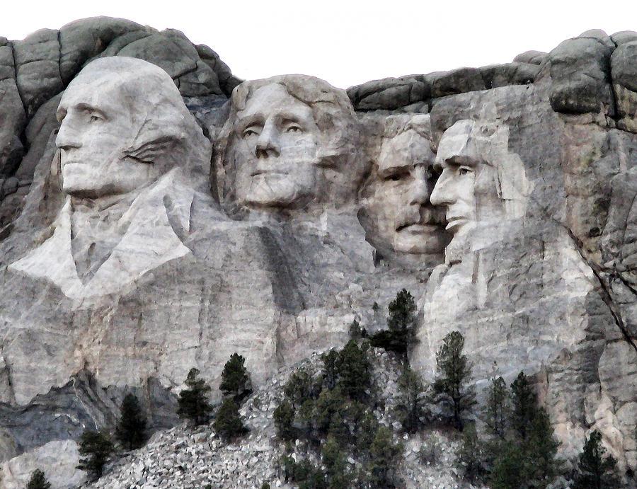 George Washington Photograph - Mount Rushmore National Memorial by Patricia Januszkiewicz