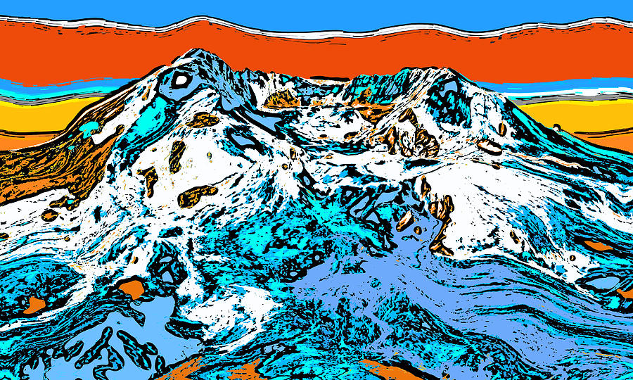 Mount Saint Helens - Washington Digital Art
