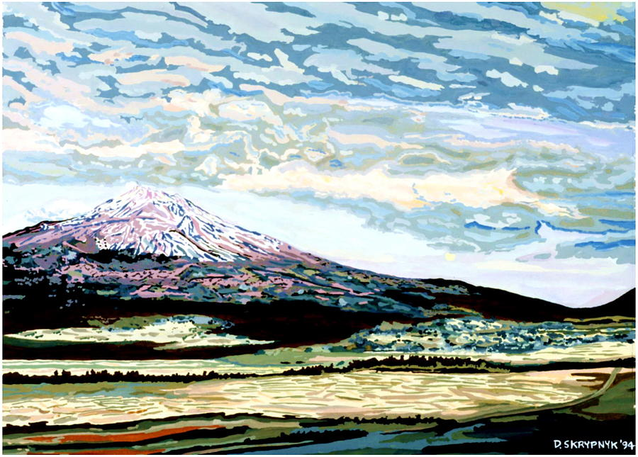 Mount Painting - Mount Shasta California by David Skrypnyk