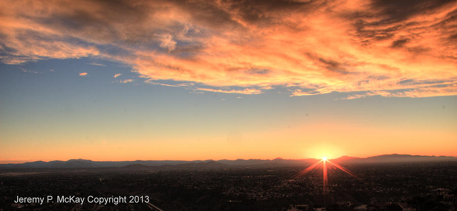 Mount Soledad Panoramic Sunrise by Jeremy McKay