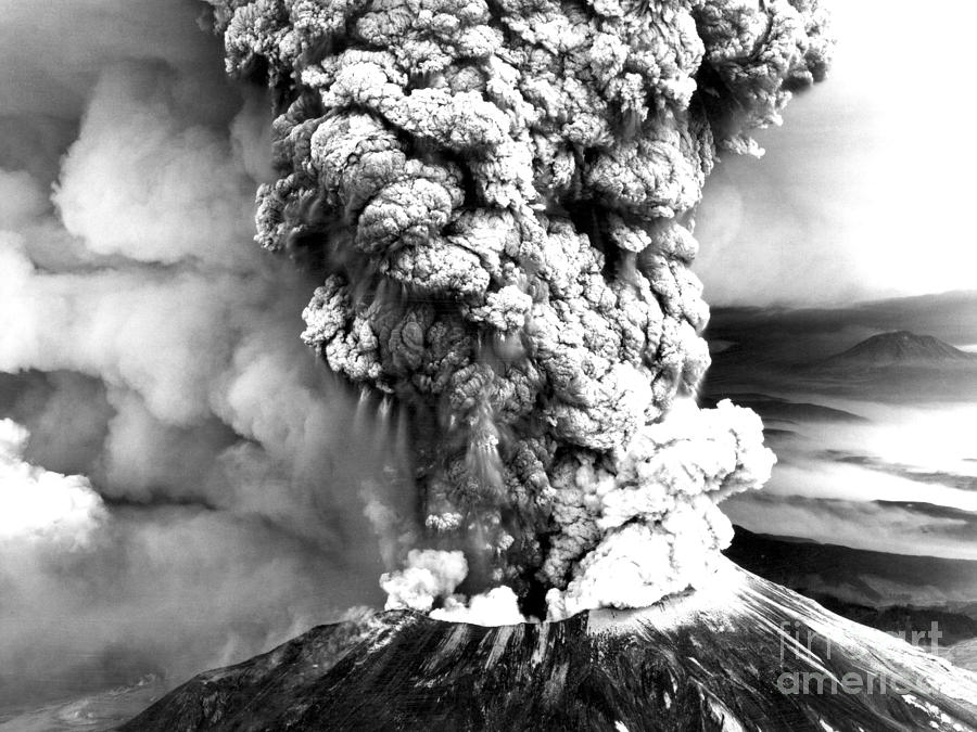 Mount St. Helens Photograph - Mount St Helens Eruption by Usgs