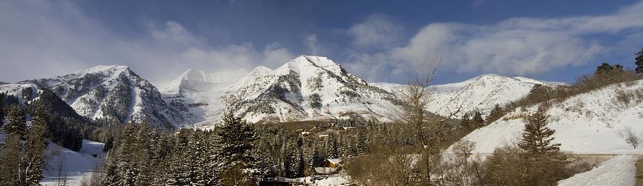 Panorama Photograph - Mount Timpanogos Panorama by Scott Pellegrin