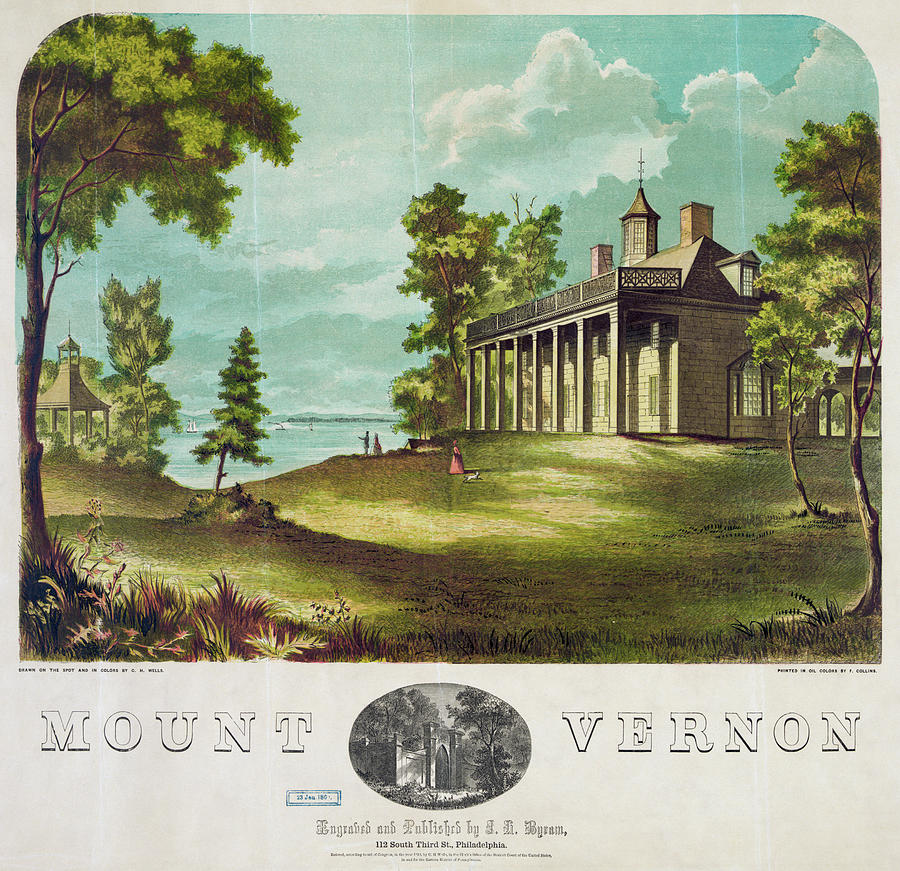 Mount Vernon 1859 Painting By Granger