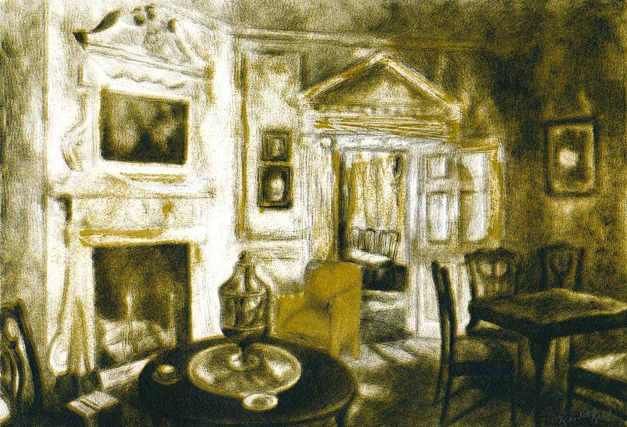 Silverware Drawing - Mount Vernon Ambiance by Kendall Kessler