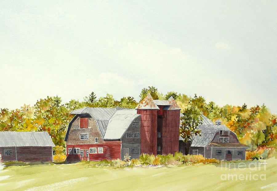 Mount Victoria Farm Painting by Jackie Mueller-Jones