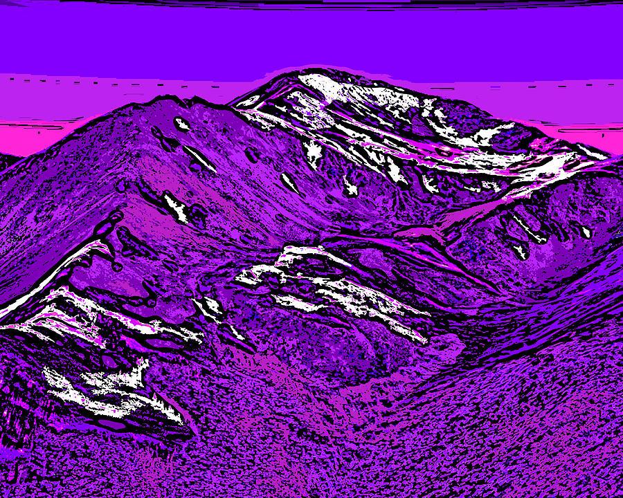 Mount Yale - Colorado Digital Art