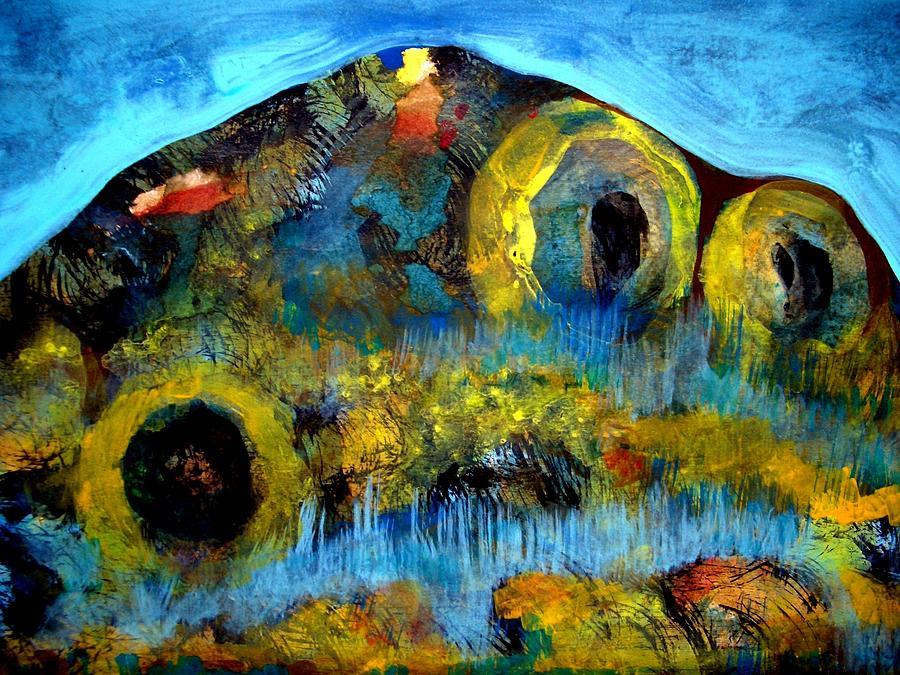 Acrylic Painting - Mountain 121129-2 by Aquira Kusume