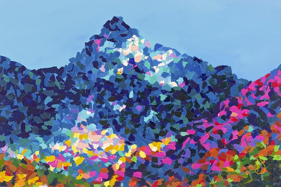 Pine Painting - Mountain Abstract Jasper Alberta by Joyce Sherwin