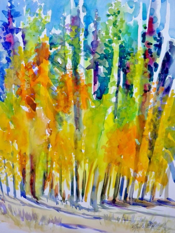 Mountain Scenes Painting - Mountain Air Aspens by Therese Fowler-Bailey