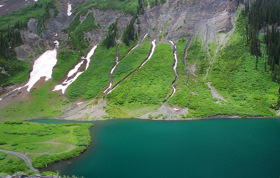 Mountain And Lake Colors Photograph