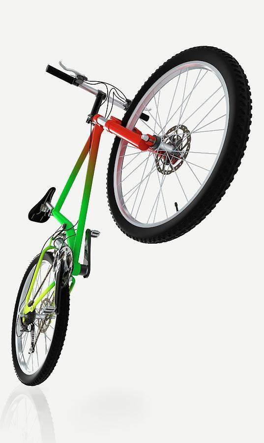Bicycle Photograph - Mountain Bike by Dorling Kindersley/uig