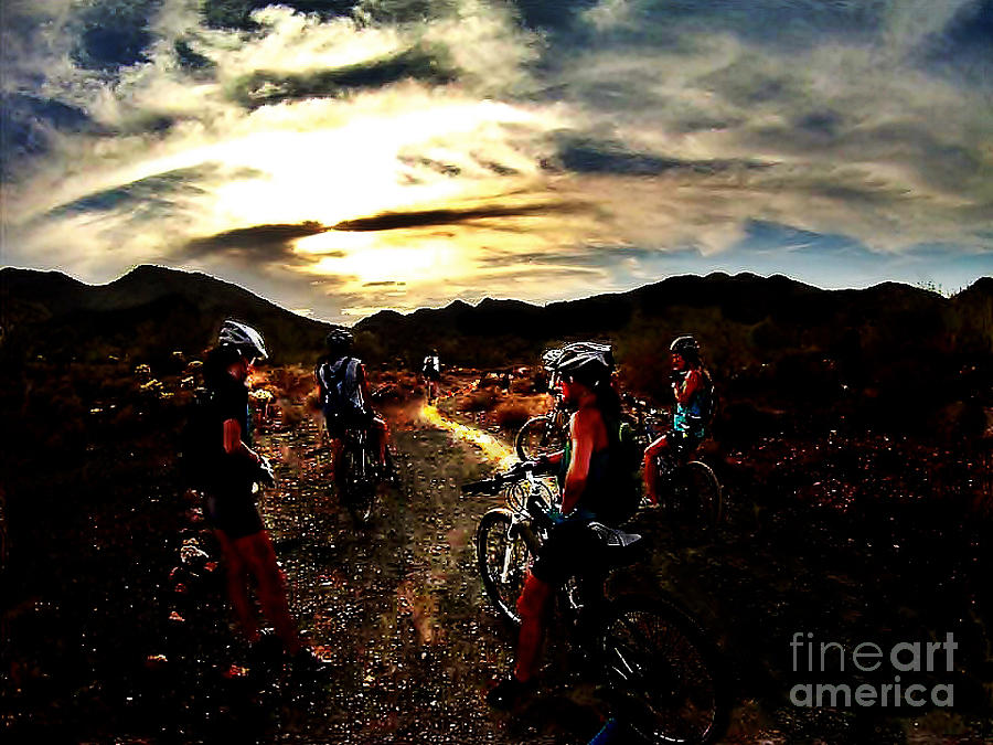 Biking Photograph - Mountain Biking Ladies by Scott Allison